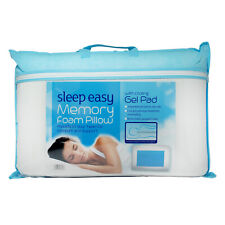 Sleep Easy Memory Foam Pillow With Cooling Gel Pad Cold Bedding Washable Cover