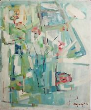 SEYMOUR NYDORF-NY Modernist-Original Signed Oil-Multicolor Abstract