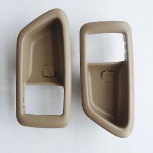 For 97-01 Toyota Camry Inside Bezel Trim Left Right Door Handle Beige Cover 2Pcs