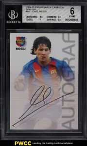 2004 Panini Sports Mega Cracks Campeon Lionel Messi ROOKIE RC #89 BGS 6 EXMT