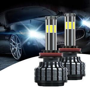 H11 H8 6000K White COB 6-Side LED Kit Extremely Bright Fog Light Bulb for Focus