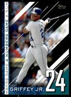 2020 Update Numbers Game Black #NG-10 Ken Griffey Jr. /299 - Seattle Mariners