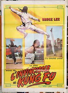 manifesto 2F film BRUCE LEE L'INVINCIBILE DEL KUNG FU 1974
