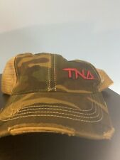 TNA Wrestling Camo Trucker/Army Hat - Adjustable, never worn! Rare. Red Logo