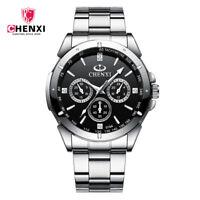 CHENXI Luxury Top Brand Men Watch Silver Steel Bracelet Wristwatch Male Watches
