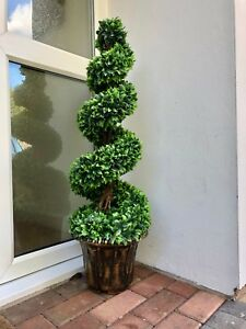 ARTIFICAL TOPIARY TREE PLANTED IN POT UV PROTECTED GARDEN PATIO FAKE PLANTS