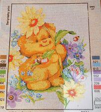 TEDDY SNIFF - Tapestry/Needlepoint to Stitch (NEW) by GRAFITEC