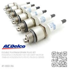 ACDELCO DOUBLE PLATINUM SPARK PLUGS 6 CYL 132 GREY MOTOR [HOLDEN FX-FJ-FE-FC]