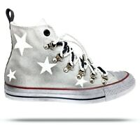 Converse All Star Borchie Chuck Taylor Bianche Personalizzate Stelle, Galaxy 2.0