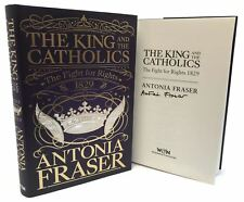AUTOGRAFATO libro - THE KING E CATHOLICS di Lady Antonia Fraser PRIMA EDIZIONE