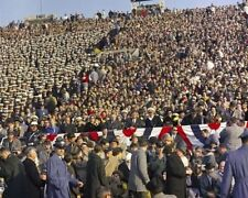 President John F. Kennedy sits in crowd at 1961 Army-Navy Game New 8x10 Photo