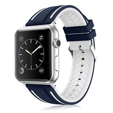 Soft Silicon Replacement Sport Watch Strap Band for Apple Watch Series 4/3/2/1