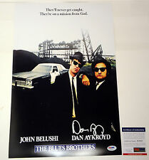 DAN AYKROYD SIGNED AUTOGRAPH THE BLUES BROTHERS MOVIE POSTER PROOF PSA/DNA COA