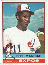 1976 Topps #164 Pepe Mangual Montreal Expos (2015-0449)