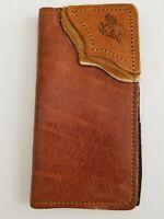 Artisan Western Leather Document Passport Phone Holder  Billfold Organizer