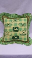 "John Deere Logos  16"" Throw Pillow"