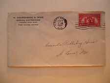 1927 Cover H Wehrenberg & Sons General Contractors Fort Wayne Indiana