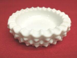 """Vintage Fenton White Milk Glass Hobnail 4 3/4"""" Ashtray"""