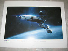 "Mass Effect 2 3 NORMANDY SR2 Official Bioware Lithograph Art Print 16"" X 12"""
