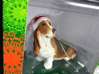 "Bassett Hound Christmas Tree Dog Ornament 3"" Tall Hand Painted New"