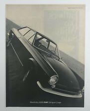 Vintage 1968 Fiat 124 Sport Coupe Car Print Magazine Advertisement AD