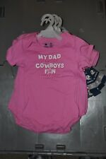 Dallas Cowboys NFL Girls Toddler One Piece  Pink Size 24M new with tags