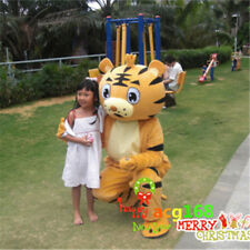 Cartoon Tiger Mascot Costume Adult Halloween Cosplay King of Forest Dress Outfit