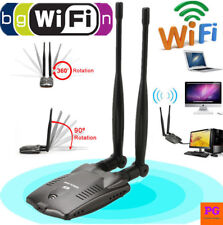 High Power Wireless Wifi Usb Adapter Dual Antenna Long Range ALFA Killer Card