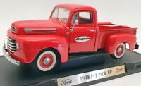 "Road Signature 27cm Long Pick Up 1612IR - 1948 F-1 Pick Up ""Snap On"" - Red"