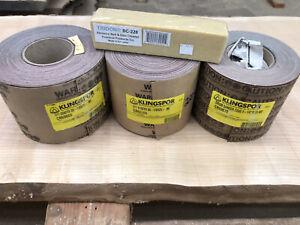 "Drum Sander Klingspor Sanding Paper Abrasive Rolls (3) Lot 5 1/8""x25 Meter"