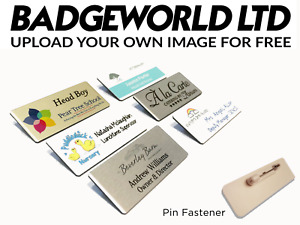 Staff ID Name Badges / Tags Corporate Personalised Named Badges / ID Tags + Logo