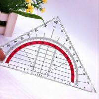 Geodreieck unzerbrechlich Geometrie Lineal flexibel-Schule Ruler flexi Büro K3F4
