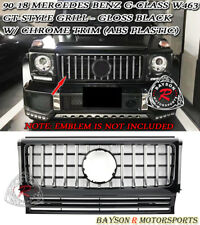 GT-Style Front Grille (Gloss Black) w/ Chrome Trim Fits 90-18 Mercedes Benz W463