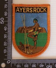 VINTAGE AYERS ROCK NT AUSTRALIA EMBROIDERED SOUVENIR PATCH WOVEN SEW-ON BADGE