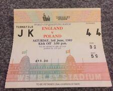 TICKET STUB: ENGLAND V POLAND 03/06/89 WORLD CUP QUALIFYING MATCH