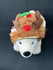 Pet Holiday Reindeer Dog Sweater Costume Jacket Brown Hoodie Christmas XS-S