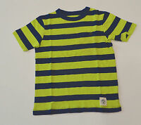 GAP Boys T Shirt -GREEN & NAVY BLUE STRIPE - SIZES - 4,6,8 & 14 YRS - NEW