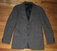 Vtg Harris Tweed Men's Gray Herringbone Sport Coat/Blazer Sz 42L