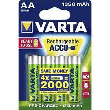 4 batterie stilo AA ricaricabili VARTA 1350 mAh - per cordless, baby monitor ecc