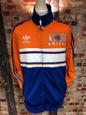 adidas Originals New York Knicks NBA Track Jacket Blue, White & Orange Size L