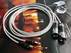Balanced 3Pin XLR Audeze LCD-2 LCD-3 LC-DX LC-XC OCC Silver Cable