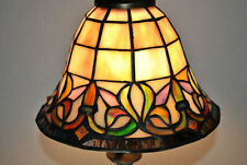 VINTAGE TIFFANY STYLE STAINED SLAG GLASS DOME (SHADE ONLY) COLORS VARY SLIGHTLY