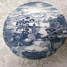 Vintage, Rare Johnson Bros.England Variant Blue Willow Bread-Salad Plate 6.5in D