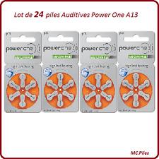 Lot de 24 piles boutons auditives A13 Power One, livraison rapide et gratuite