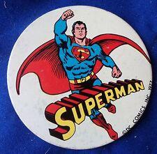 1977 SUPERMAN DC COMICS  TIN BADGE
