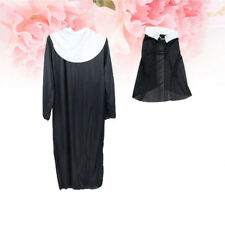 3x Nun Costume Cross Headscarf Robe for Party Cosplay Stage Performance