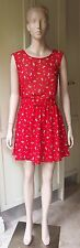 American Apparel CUT-OUT SCHOOL GIRL Petal Showers on Red  DRESS Casual XS/S