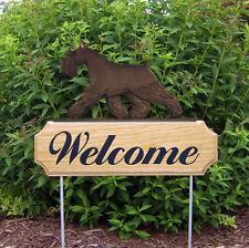Schnauzer Miniature Dog Breed Oak Wood Welcome Outdoor Yard Sign Black