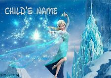 Childrens/kids A4 Frozen/Elsa dinner mat/place mat. Personalised