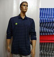 IZOD mens 466707 PERFORMX GOLF UPF-30 Sun Control Stripe Polo Shirt NEW
